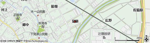 愛知県豊川市御津町下佐脇(是願)周辺の地図