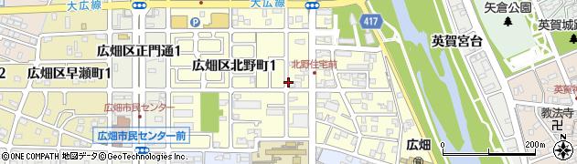 兵庫県姫路市広畑区北野町周辺の地図