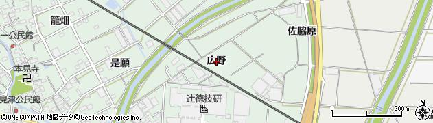 愛知県豊川市御津町下佐脇(広野)周辺の地図