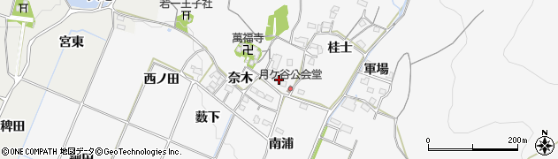 愛知県豊橋市嵩山町(奈木)周辺の地図