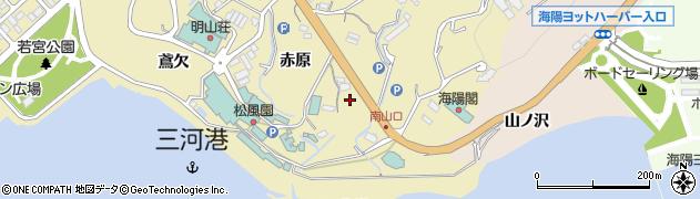 愛知県蒲郡市三谷町(田尻)周辺の地図