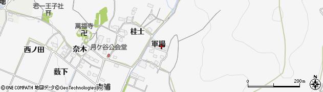 愛知県豊橋市嵩山町(軍場)周辺の地図