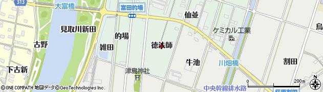 愛知県西尾市吉良町富田(徳法師)周辺の地図