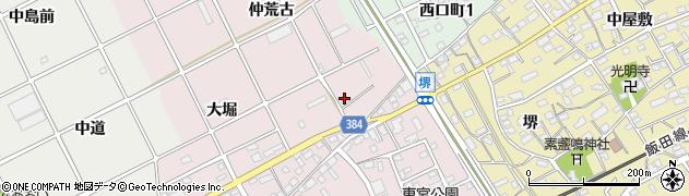 愛知県豊川市篠束町(仲荒古)周辺の地図
