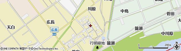 愛知県豊川市柑子町(川原)周辺の地図