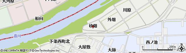 愛知県豊橋市下条西町(砂畑)周辺の地図