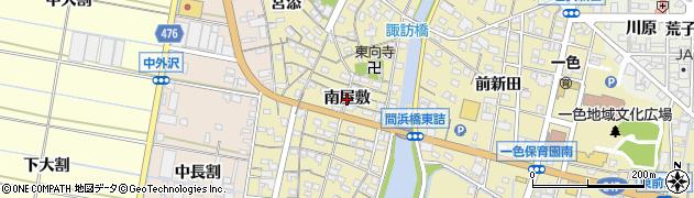 愛知県西尾市一色町一色(南屋敷)周辺の地図