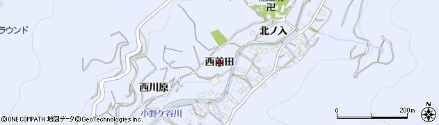 愛知県西尾市西幡豆町(西前田)周辺の地図
