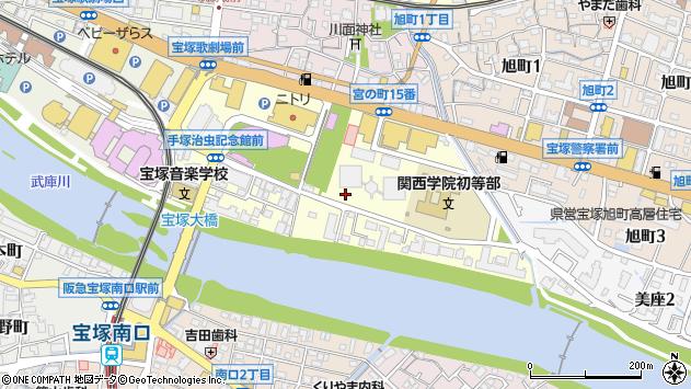 〒665-0844 兵庫県宝塚市武庫川町の地図
