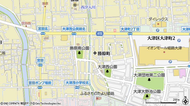〒671-1212 兵庫県姫路市勝原区勝原町の地図