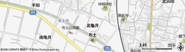 愛知県美浜町(知多郡)布土(北亀井)周辺の地図