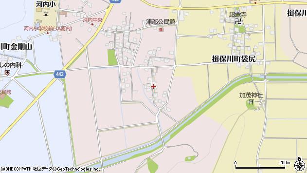 〒671-1663 兵庫県たつの市揖保川町浦部の地図