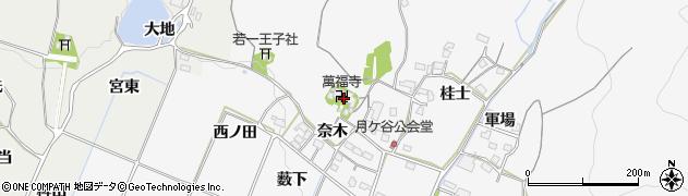 萬福寺周辺の地図