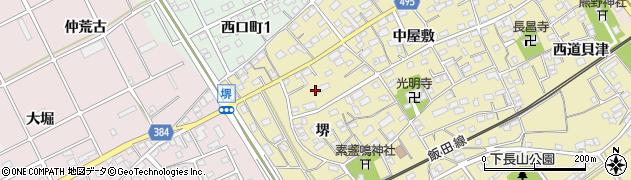 愛知県豊川市下長山町(堺)周辺の地図