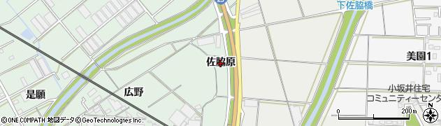 愛知県豊川市御津町下佐脇(佐脇原)周辺の地図