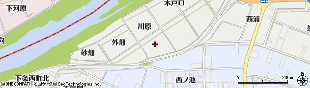 愛知県豊橋市下条西町(川原)周辺の地図