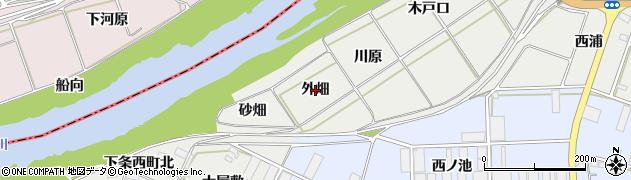 愛知県豊橋市下条西町(外畑)周辺の地図