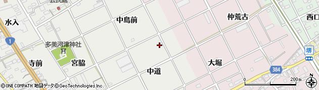 愛知県豊川市宿町(中道)周辺の地図