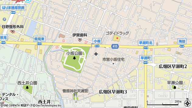 〒671-1156 兵庫県姫路市広畑区小坂の地図