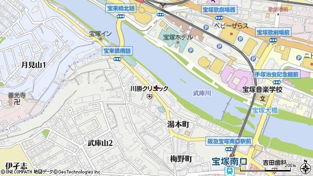 〒665-0003 兵庫県宝塚市湯本町の地図