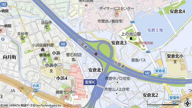 〒665-0821 兵庫県宝塚市安倉北の地図