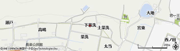 愛知県豊橋市石巻本町(下菜洗)周辺の地図
