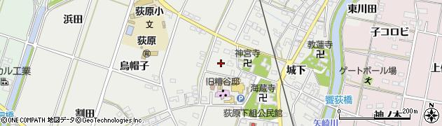 愛知県西尾市吉良町荻原(大道通)周辺の地図