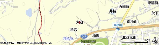 愛知県蒲郡市形原町(大迫)周辺の地図