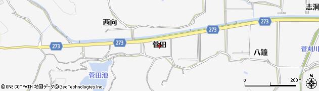 愛知県美浜町(知多郡)布土(菅田)周辺の地図