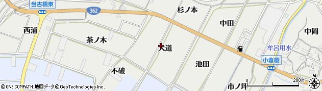 愛知県豊橋市石巻本町(大道)周辺の地図