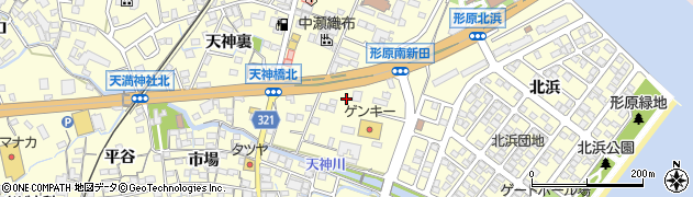 愛知県蒲郡市形原町(南新田)周辺の地図