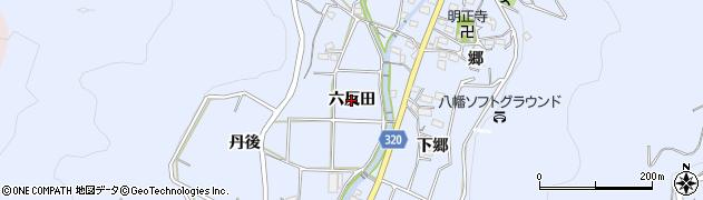 愛知県西尾市西幡豆町(六反田)周辺の地図