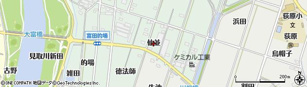 愛知県西尾市吉良町富田(仙並)周辺の地図