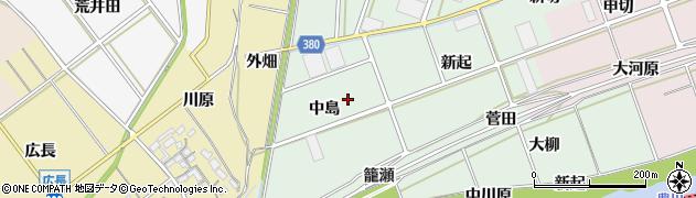愛知県豊川市院之子町(中島)周辺の地図