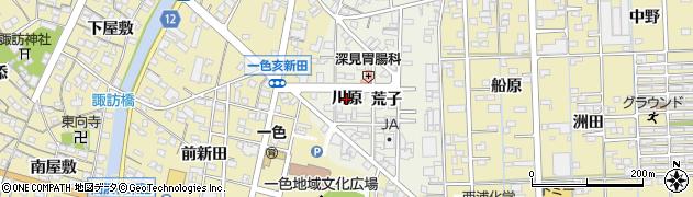 愛知県西尾市一色町前野(川原)周辺の地図