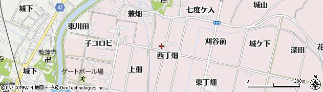 愛知県西尾市吉良町饗庭周辺の地図