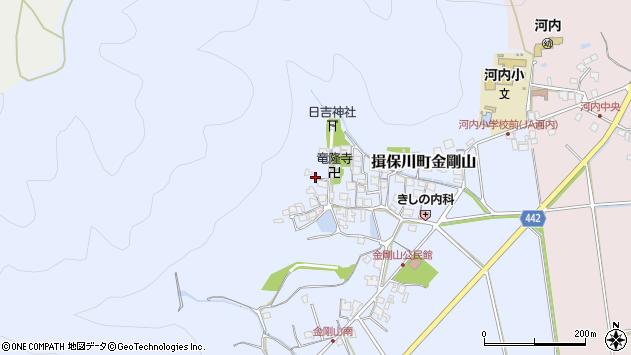 〒671-1664 兵庫県たつの市揖保川町金剛山の地図