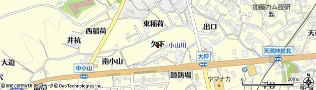 愛知県蒲郡市形原町(欠下)周辺の地図