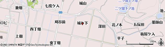 愛知県西尾市吉良町饗庭(城ケ下)周辺の地図