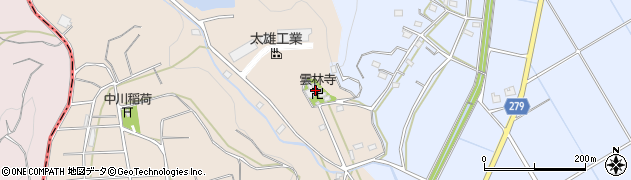 雲林寺周辺の地図