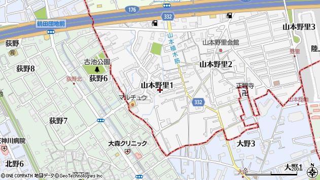 〒665-0814 兵庫県宝塚市山本野里の地図