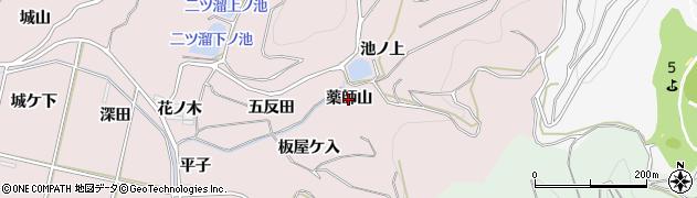 愛知県西尾市吉良町饗庭(薬師山)周辺の地図