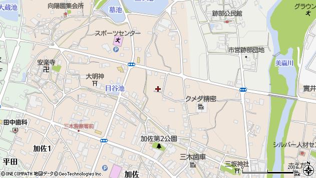 〒673-0402 兵庫県三木市加佐の地図