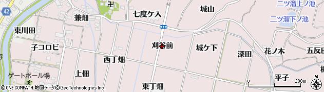 愛知県西尾市吉良町饗庭(刈谷前)周辺の地図