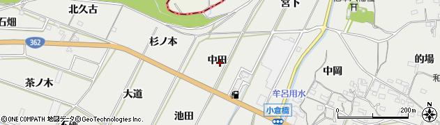 愛知県豊橋市石巻本町(中田)周辺の地図