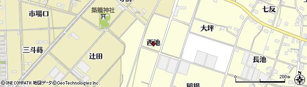 愛知県西尾市一色町大塚(西池)周辺の地図
