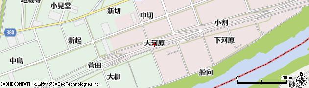 愛知県豊川市当古町(大河原)周辺の地図