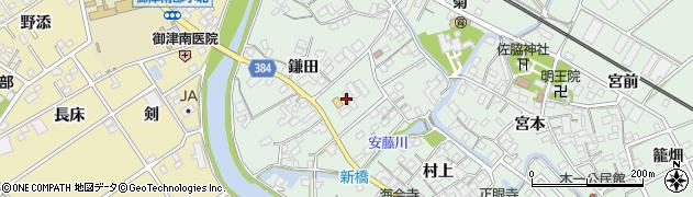 愛知県豊川市御津町下佐脇(鎌田)周辺の地図