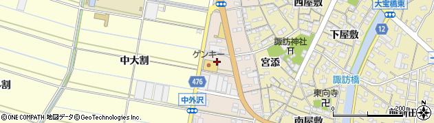 愛知県西尾市一色町味浜(上長割)周辺の地図