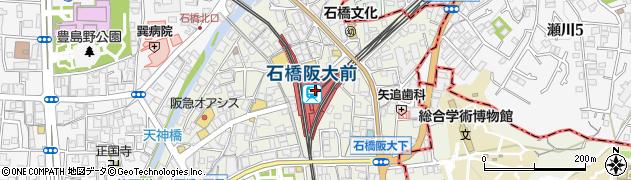 大阪府池田市周辺の地図